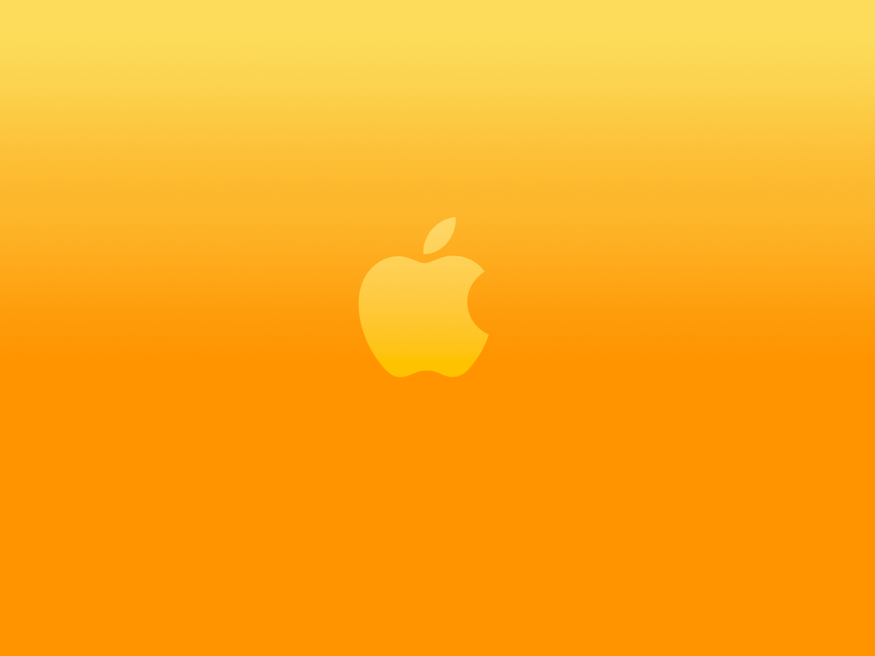 bright orange apple logo 2880x2160