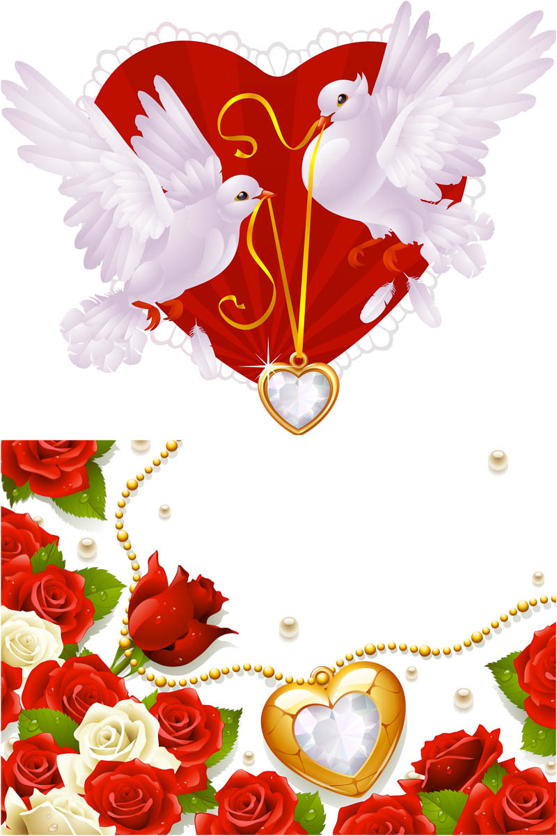 vector wedding backgrounds with flowers and bords for your wedding 800x1200