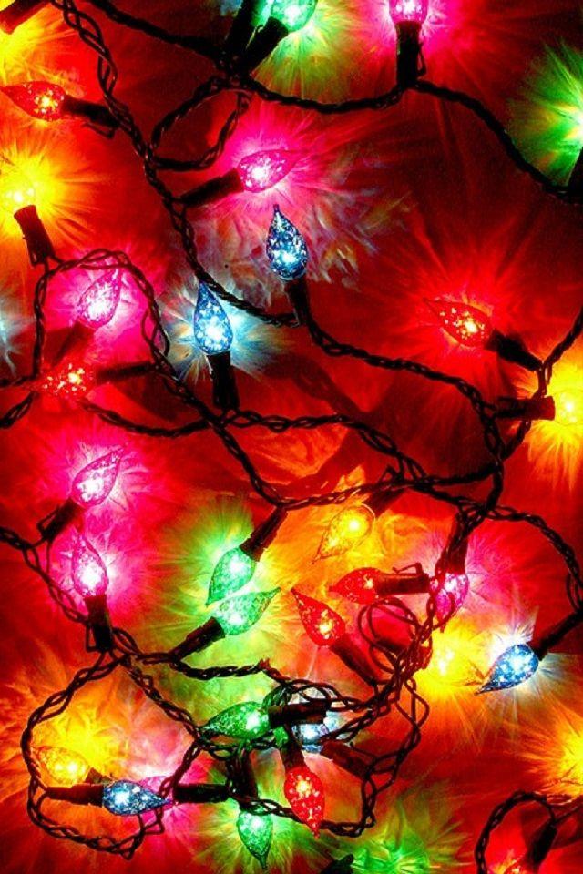 Christmas Lights Iphone Wallpaper Wallpapersafari