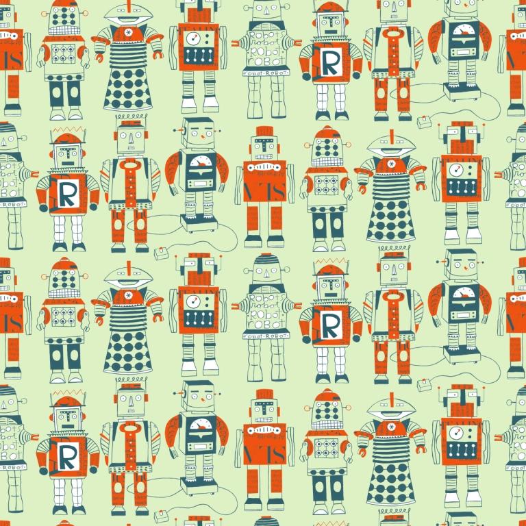 Retro Robot Wallpaper Loboloup robot wallpaper 768x768