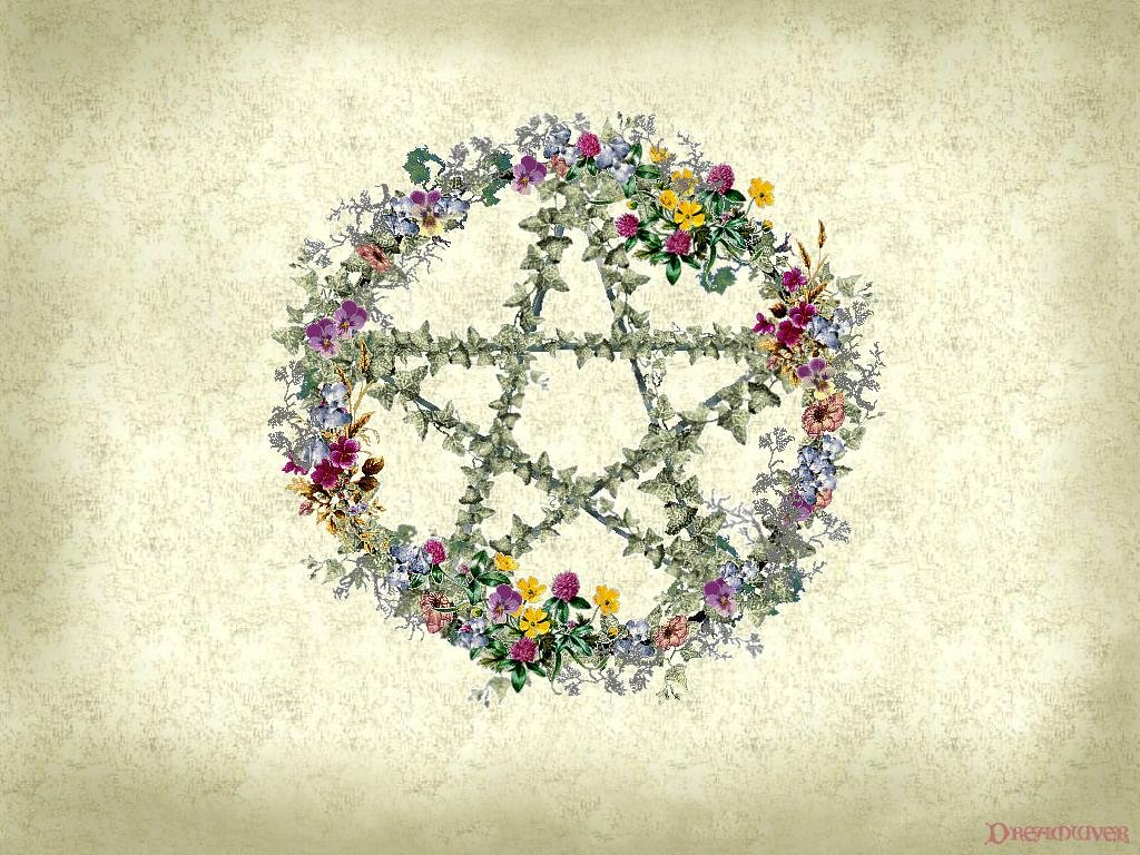 319416 Wiccan20Floral20Wreath20Wallpaper  yvt2 1024x768