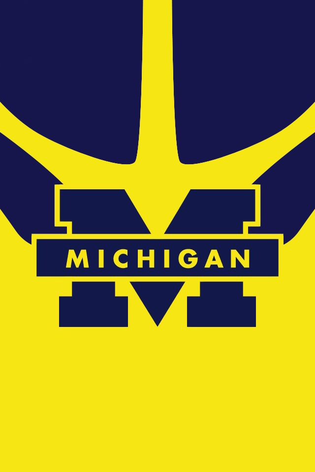 Michigan Wolverines iPhone wallpaper BeatOhio PinToWin U of M 640x960