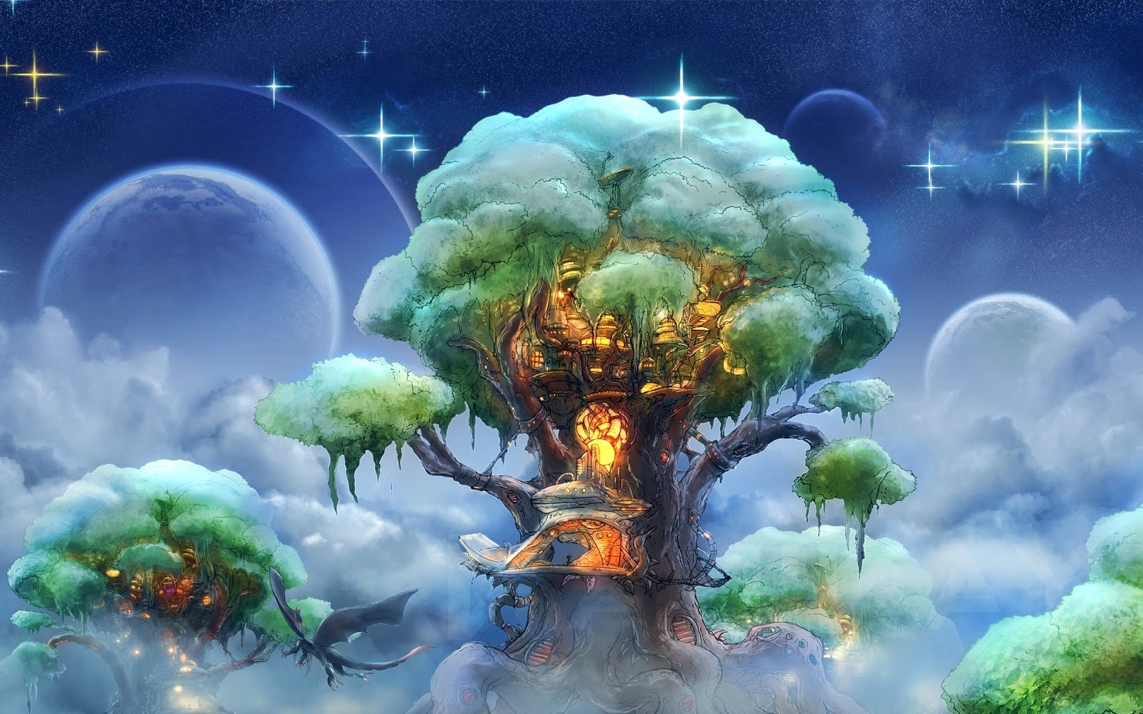 Free Download Love Tree House Fantasy Forest Tree Houses