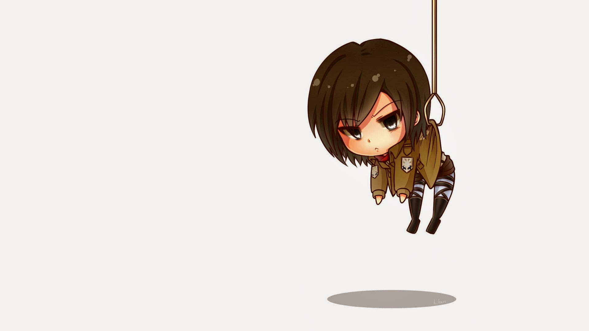 Mikasa Ackerman Chibi Anime Girl 7w Wallpaper HD 1920x1080