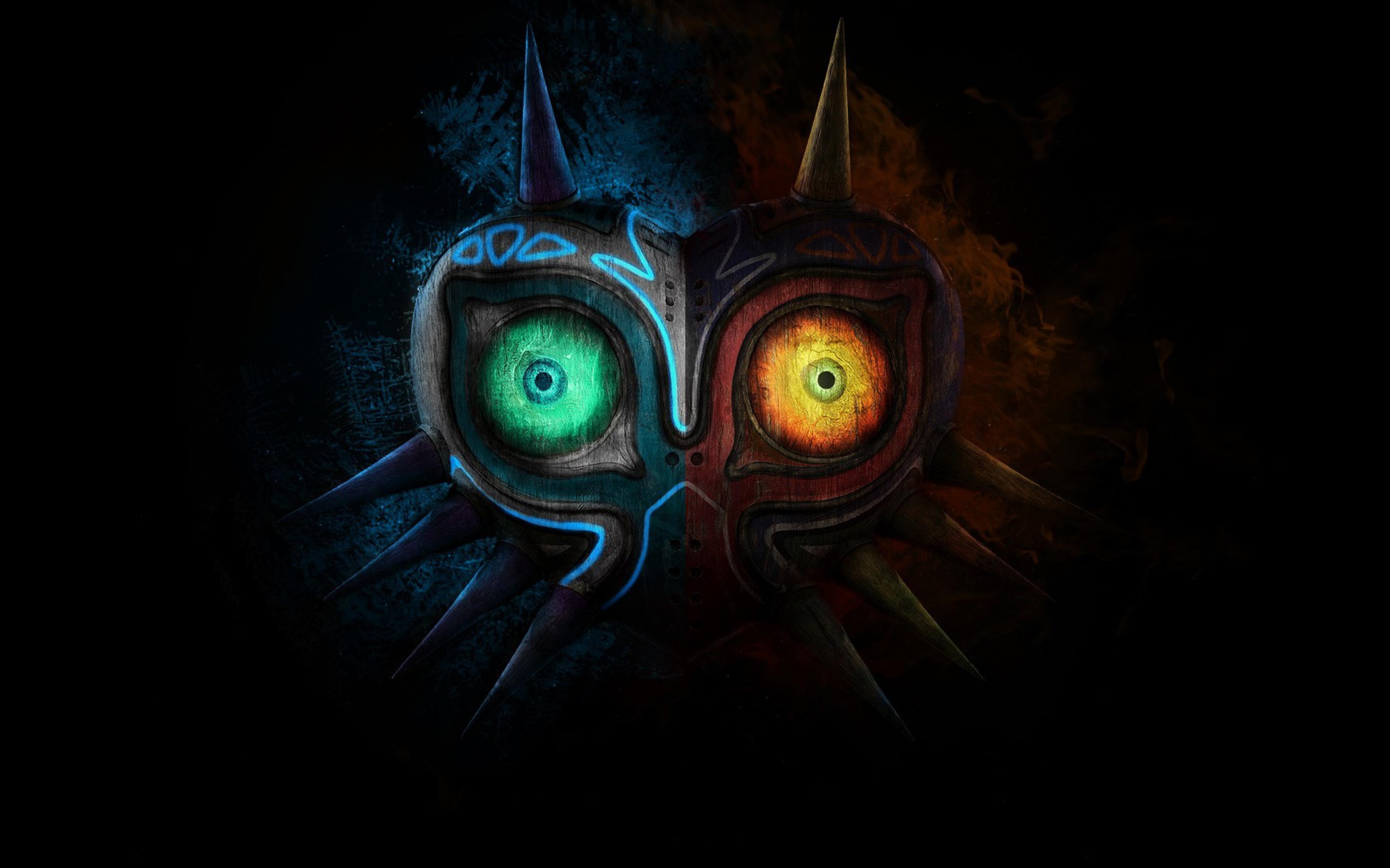 Legend of Zelda Majora Mask Art Game Logo Wallpaper WallpapersByte 3840x2400