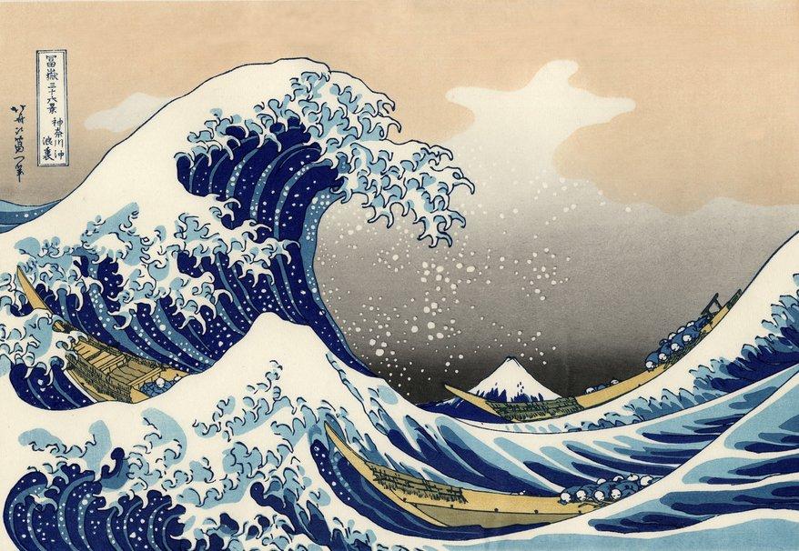 878x606px Great Wave Off Kanagawa Wallpaper Wallpapersafari