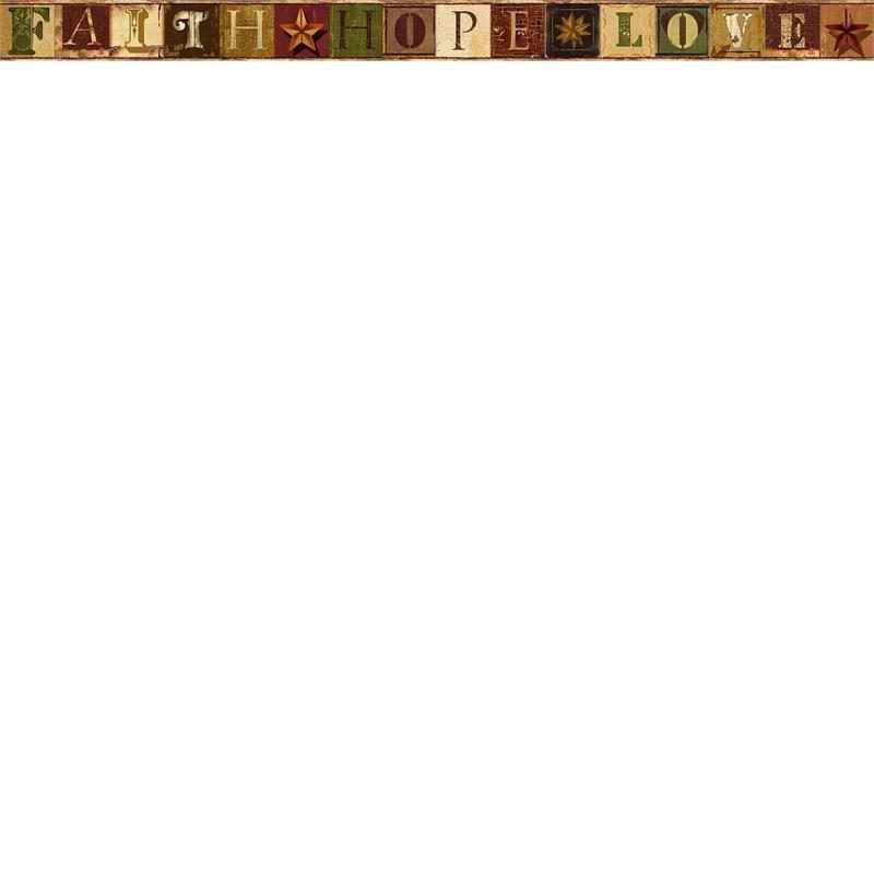 Green Faith Wallpaper Border   Rustic Country Primitive 800x800