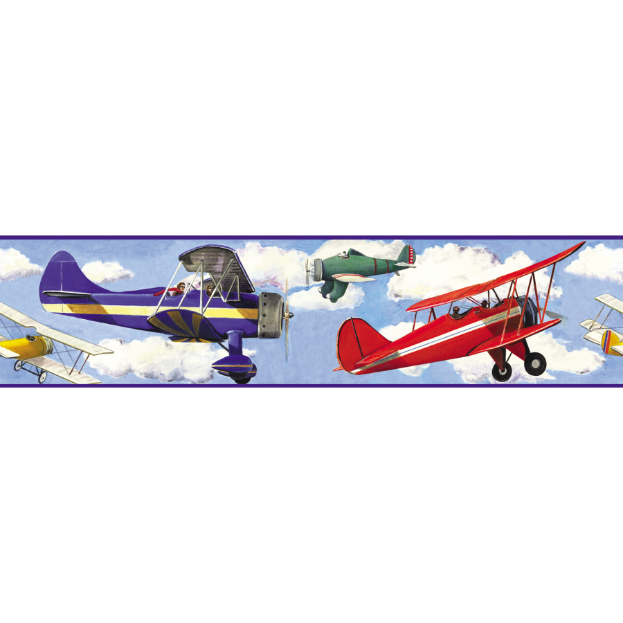 RoomMates Vintage Planes Peel and Stick Wallpaper Border at Lowescom 900x900