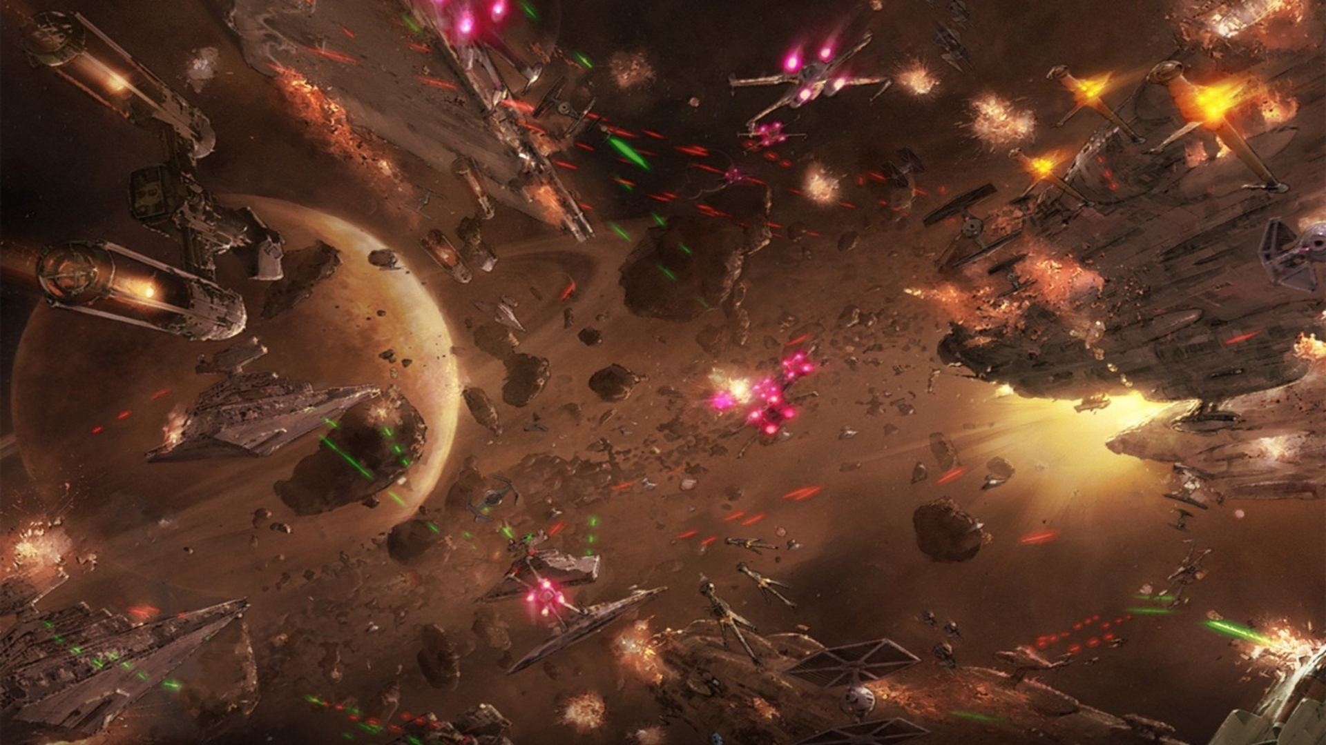 Free Download Star Wars Space Battle Hd Wallpaper 1920x1080