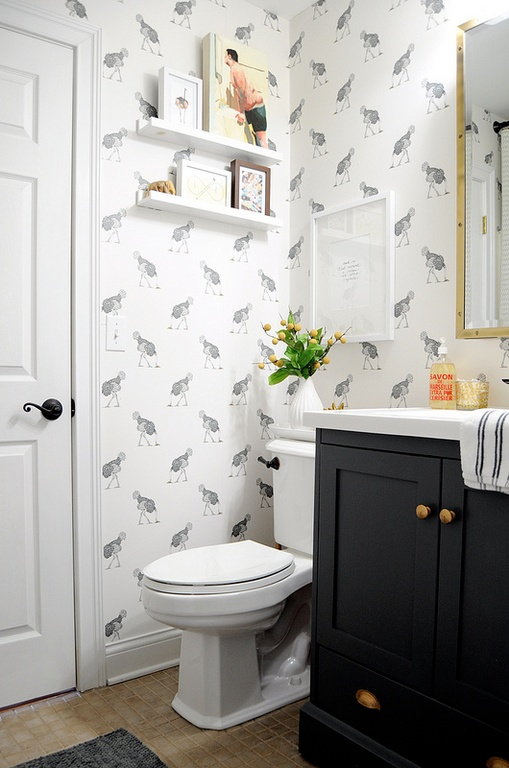Guest Post Wallpaper In The Powder Room   702 Park Project 509x768