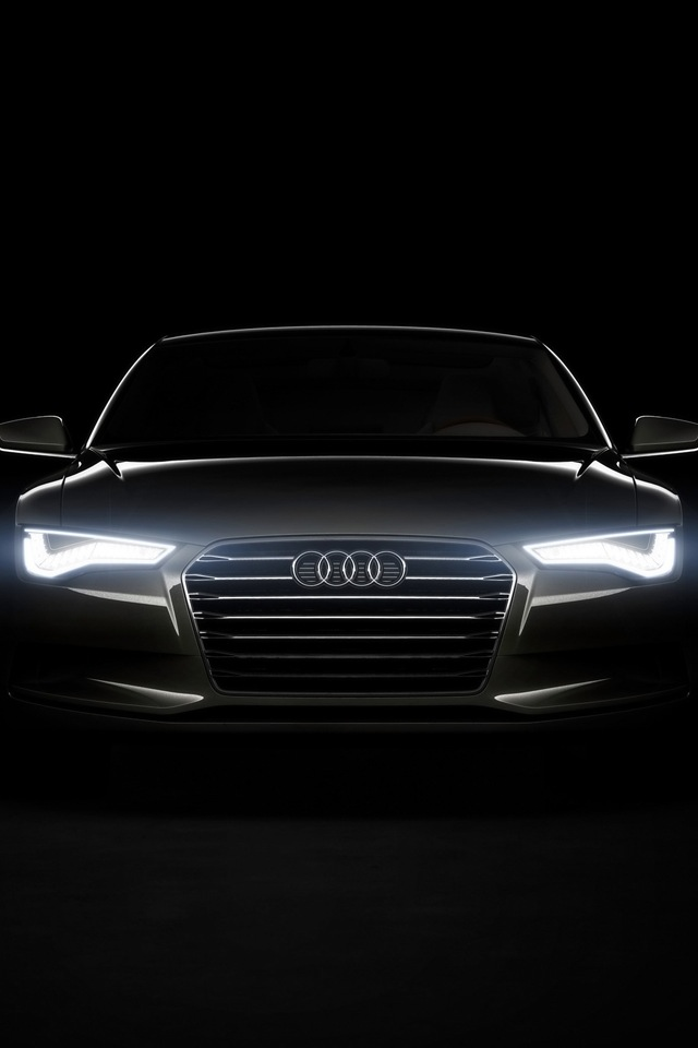 Audi A6 Simply beautiful iPhone wallpapers 640x960