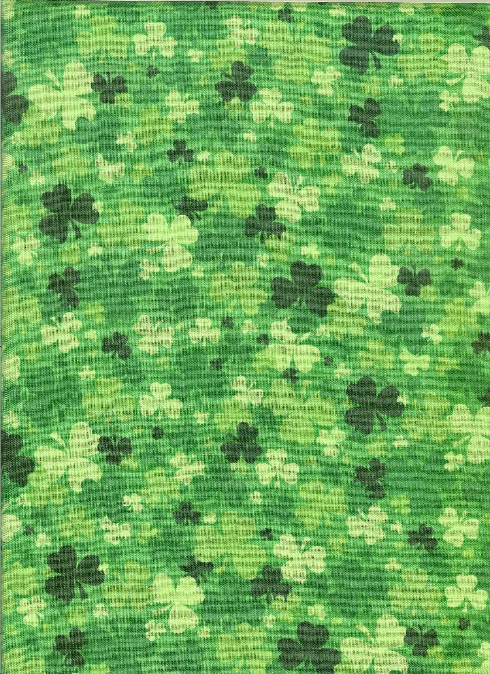Green shamrock fabric Green St patricks day wallpaper Saint 1700x2338