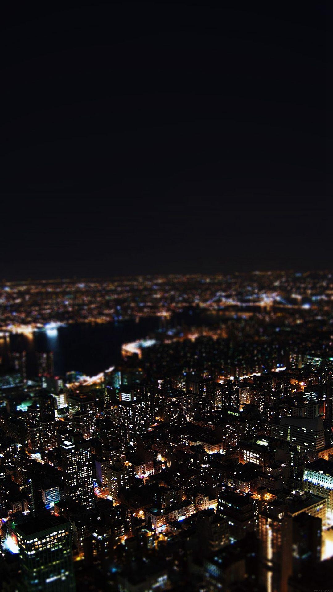 Dark Night City Building Skyview iPhone 6 wallpaper Apple in 1080x1920