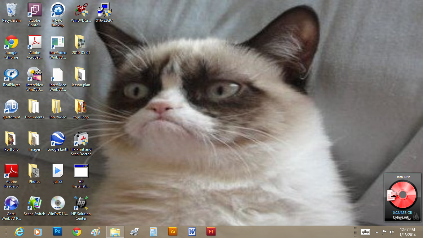 Grumpy Cat Wallpaper by Yeldarb86 1366x768