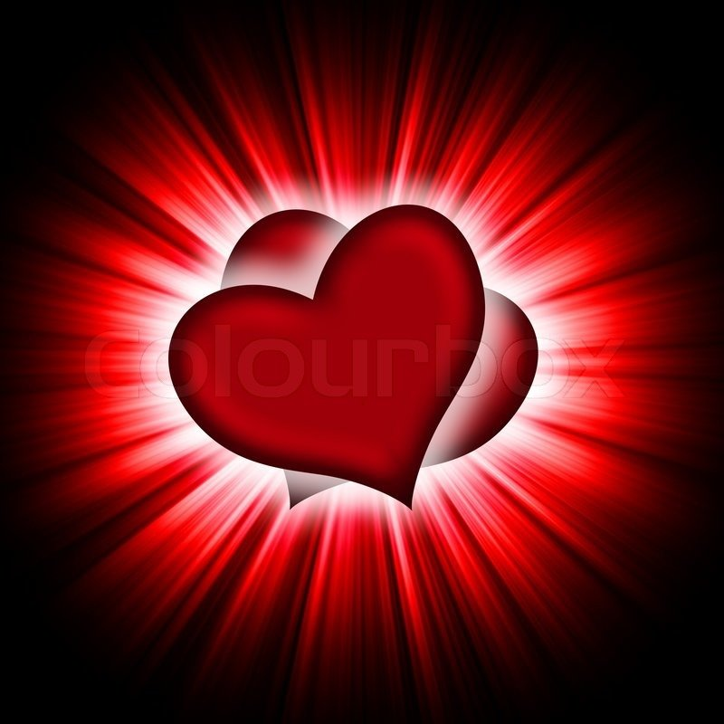 Red Heart With Black Background Wallpapersafari