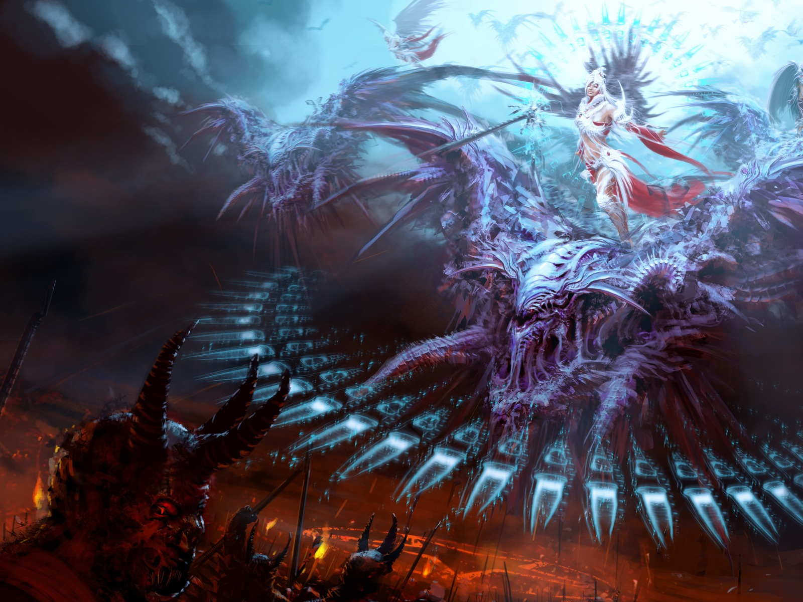 Backgrounds The Spectacular War Between Angels And Demons Wallpapers 1600x1200