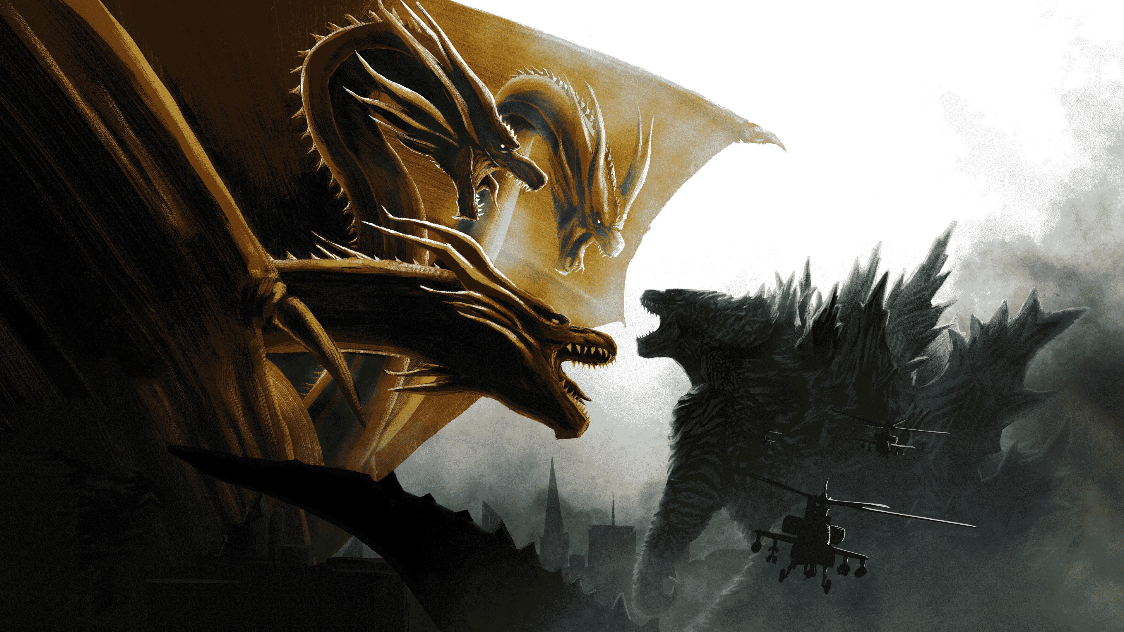3840x2160 Godzilla vs King Ghidorah In Godzilla King of the 3840x2160