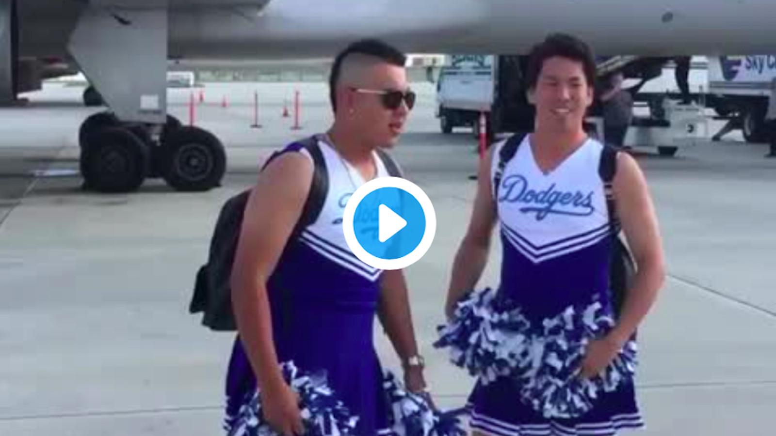 Dodgers dress up rookies as cheerleaders   True Blue LA 1600x900