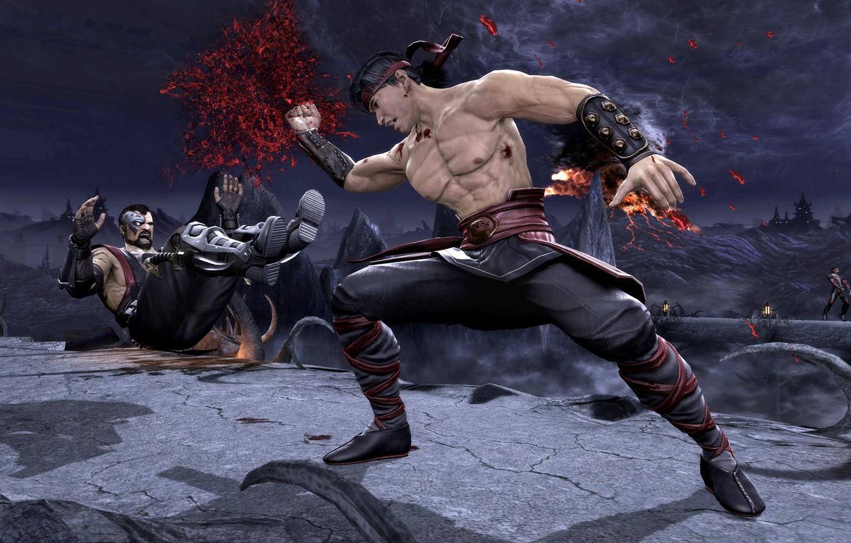 Wallpaper blow Mortal Kombat Liu Kang got Komplete Edition 1332x850