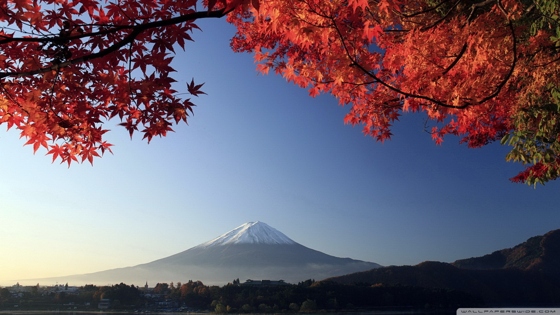Autumn Mount Fuji Japan Wallpaper 1920x1080 Autumn Mount Fuji Japan 1920x1080