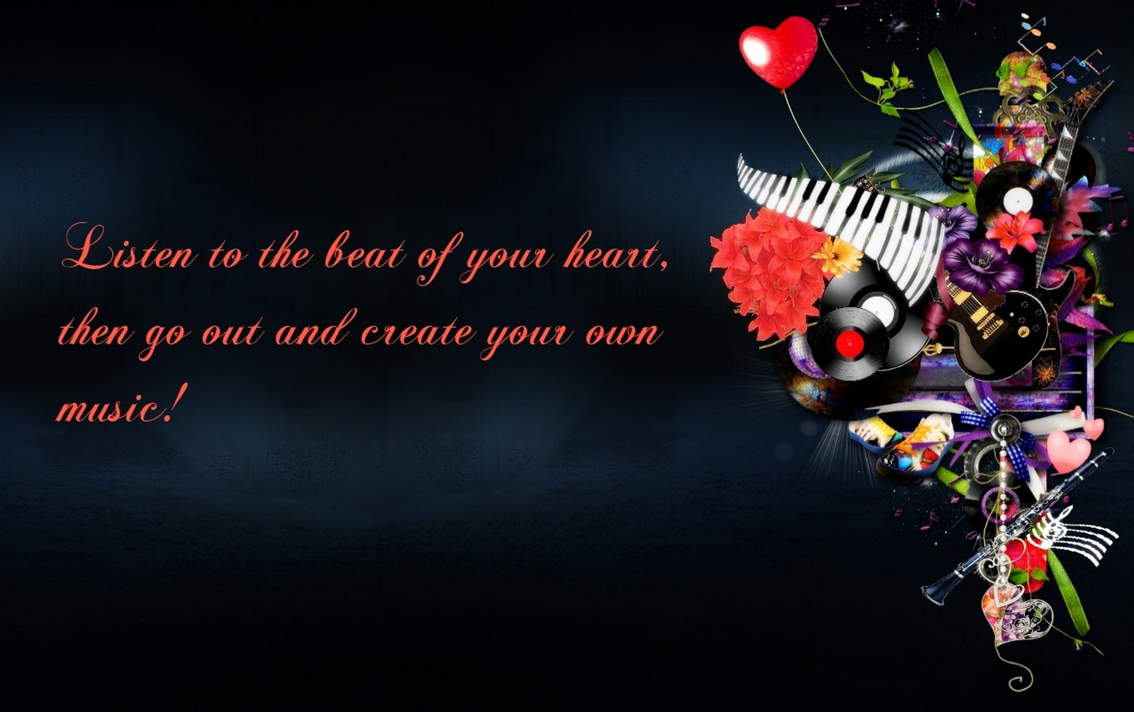Best music wallpapers wallpapersafari music quote the best one 16001005 wallpapers55 best voltagebd Images