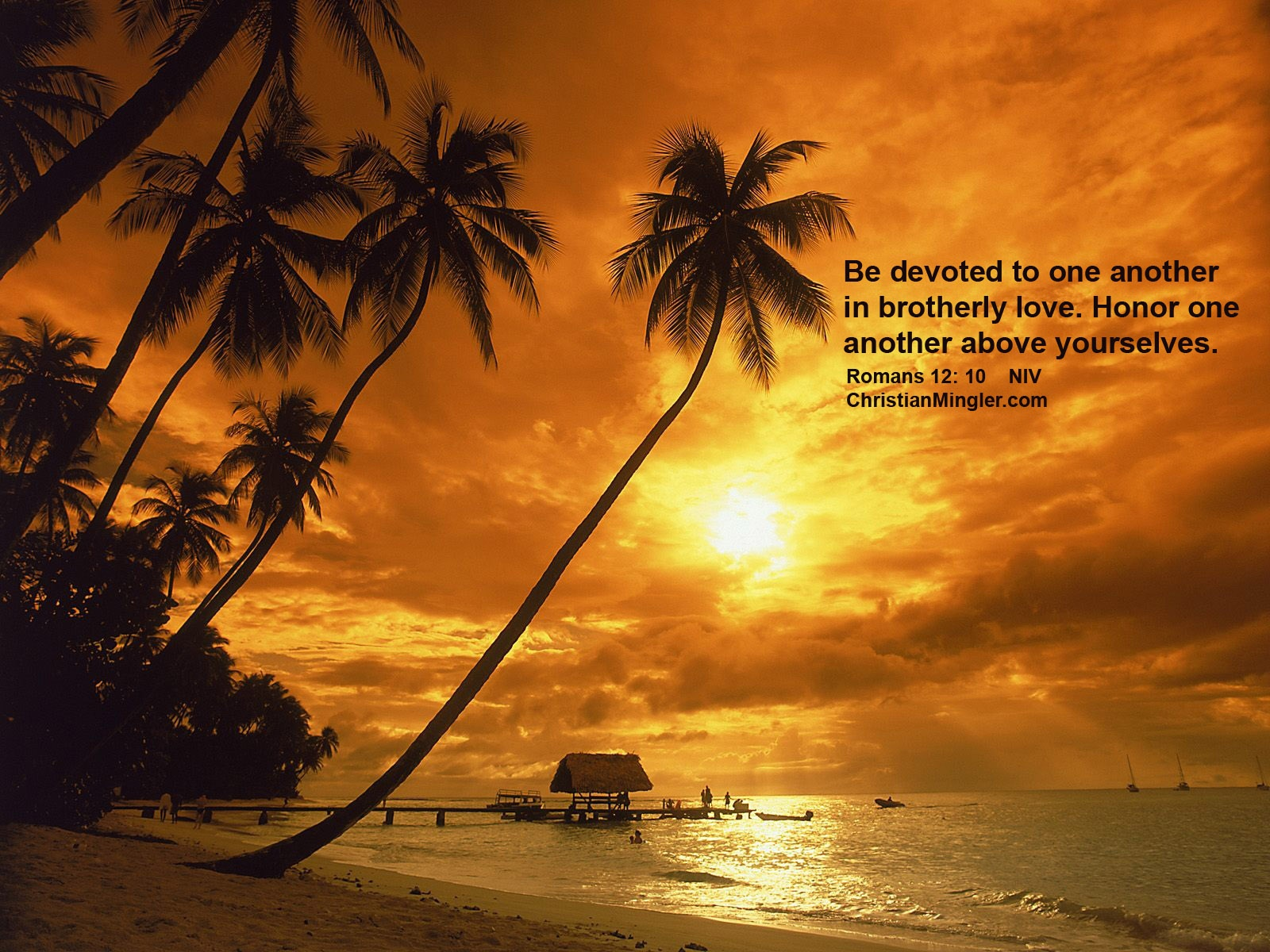 Christian Sunset Wallpaper Romans 12 10 ChristianMingler 1600x1200