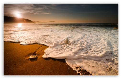 Beach Waves HD wallpaper for Standard 43 54 Fullscreen UXGA XGA SVGA 510x330