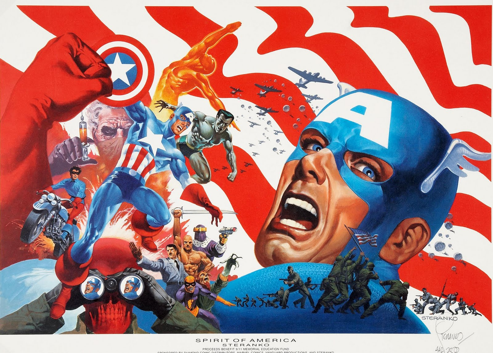 Capns Comics Some Captain America by Jim Steranko 1600x1147