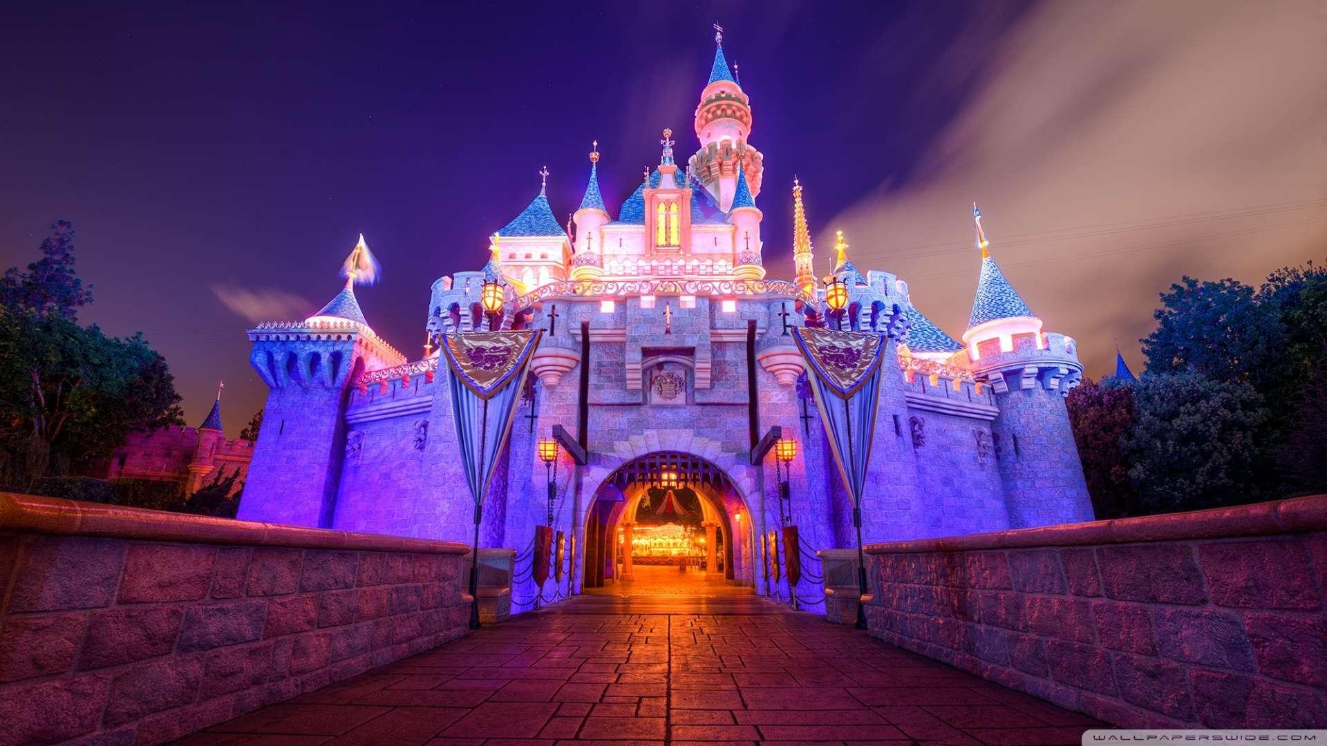 Wallpaper Sleeping Beauty Castle Disneyland Wallpaper 1080p HD 1920x1080