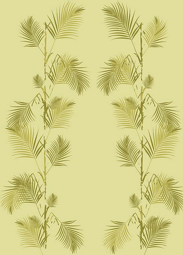 Palm Print Wallpaper in Summer Yellow Flickr   Photo Sharing 359x500