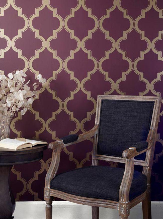 Removable wallpaperTempaper Marrakech white walls challenge 650x871