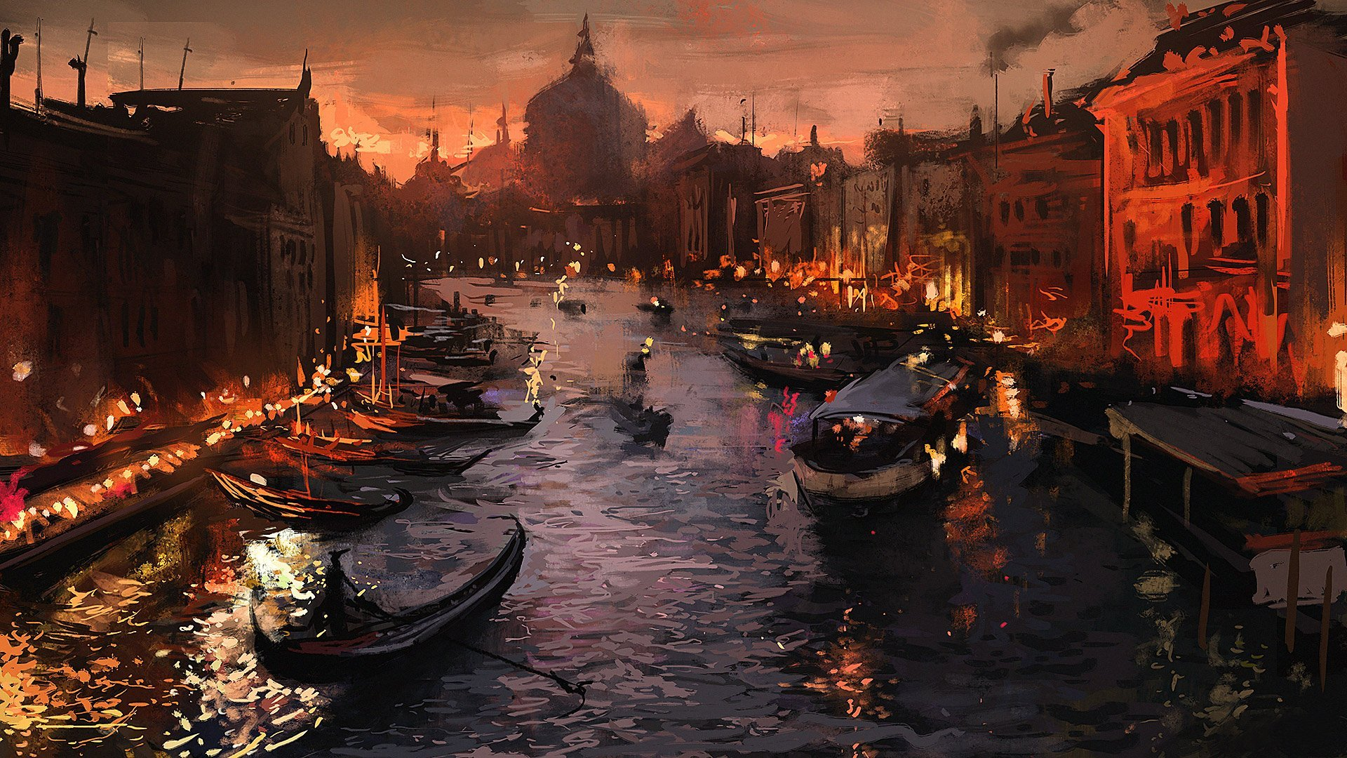 9620 venice at night wallpapers 1920x1080