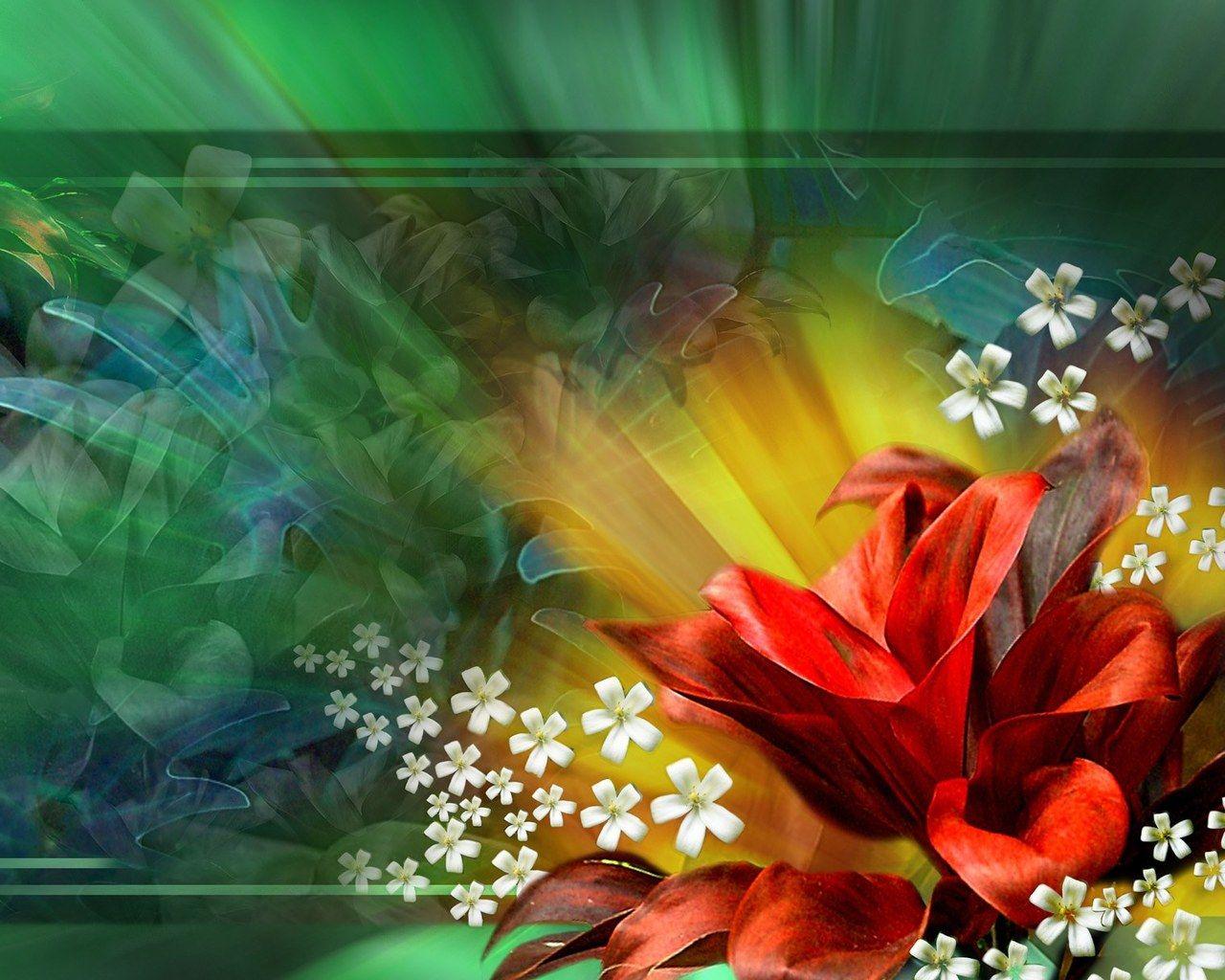 Computer Screensavers Rose Desktop Wallpaper animated 1280x1024