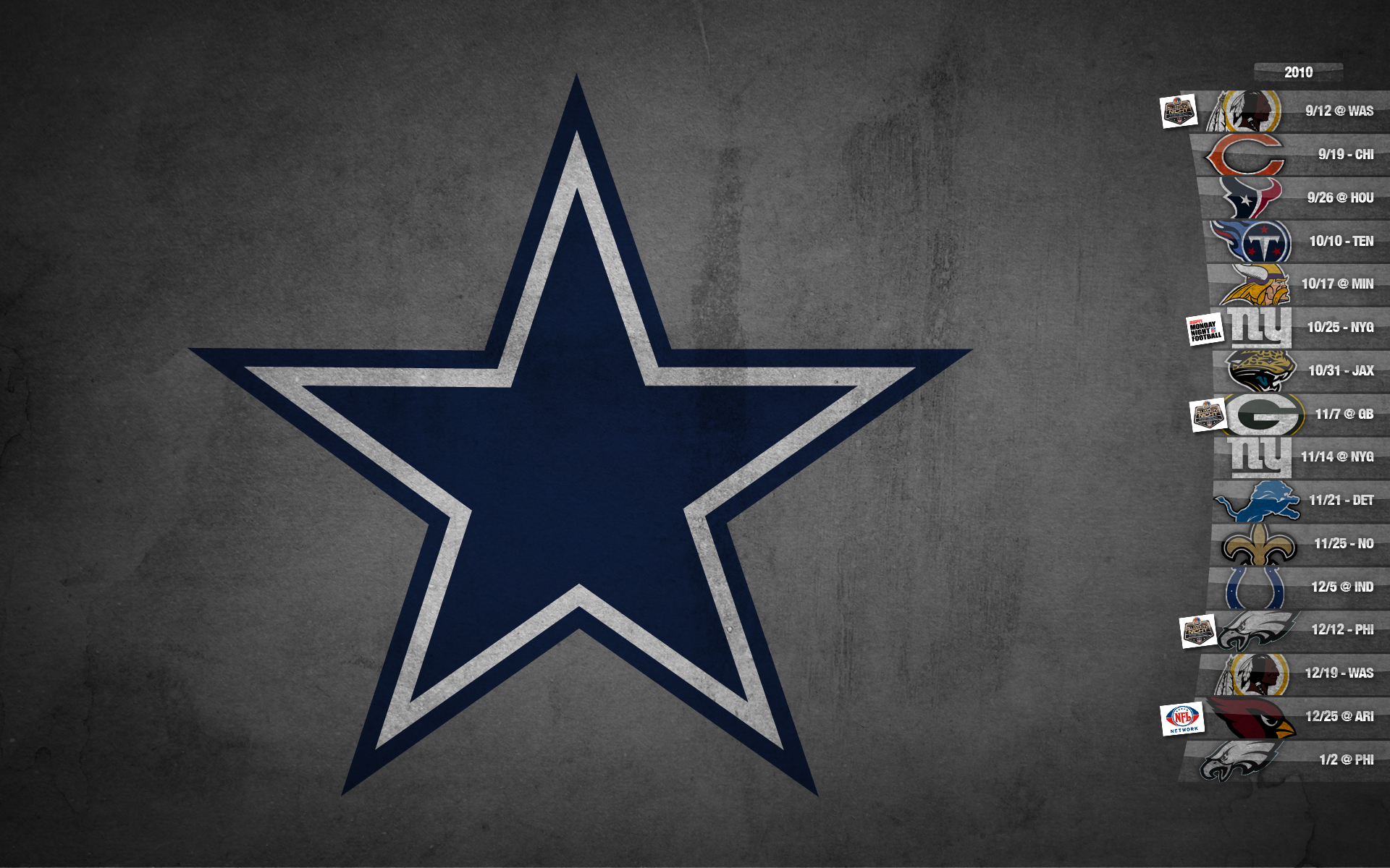 Dallas Cowboys Schedule Desktop Wallpaper Wallpaper 1920x1200