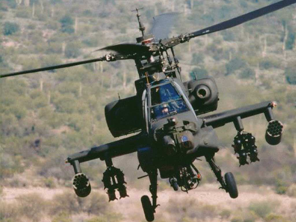 AH 64 Apache Helicopter 1024x768