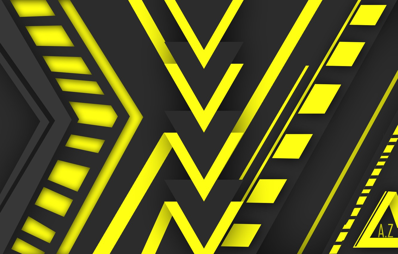 Wallpaper Lines Yellow Future Best zero Syndicat images for 1332x850