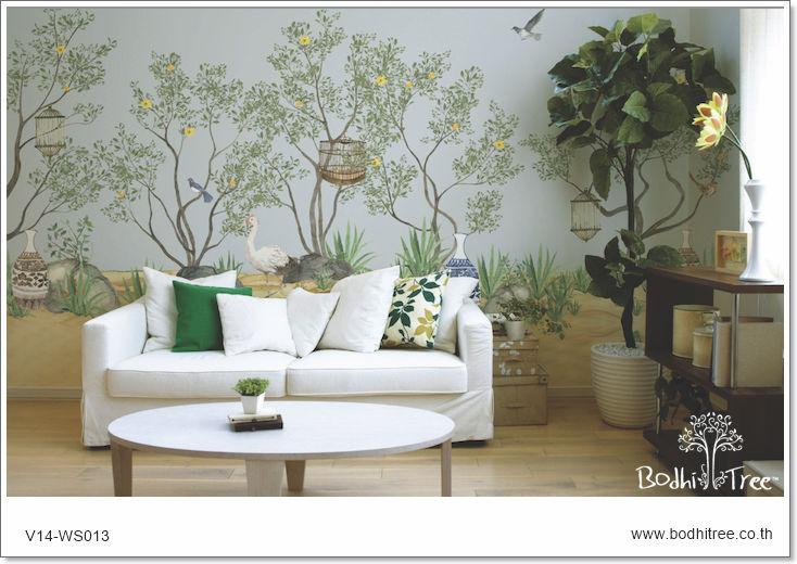 Blue Chinoiserie Wallpaper   Buy Chinoiserie WallpaperWallpaperWall 734x520