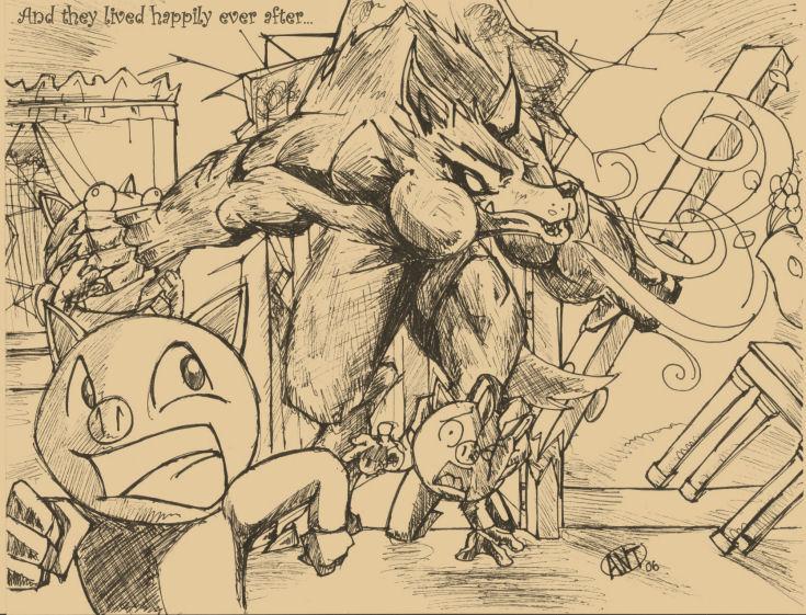 Badass Wolf Wallpapers Big Badass Wolf Dinnertime by 735x561