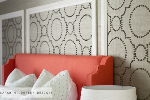 grasscloth accent wall bedroom 2015   Grasscloth Wallpaper 600x400