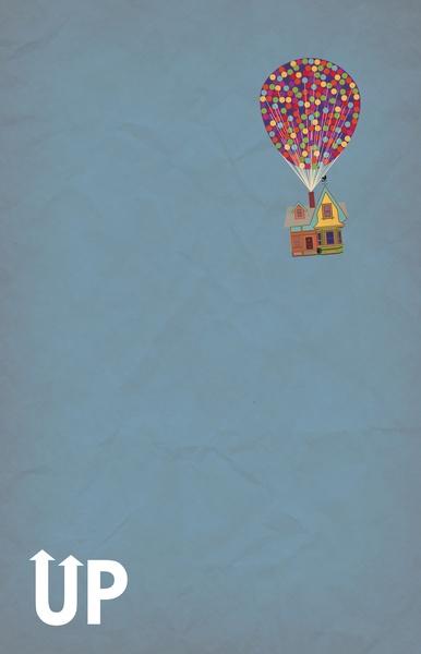 Disney Pixars Up A Minimalist Poster Art Print by Bluebird Design 386x600