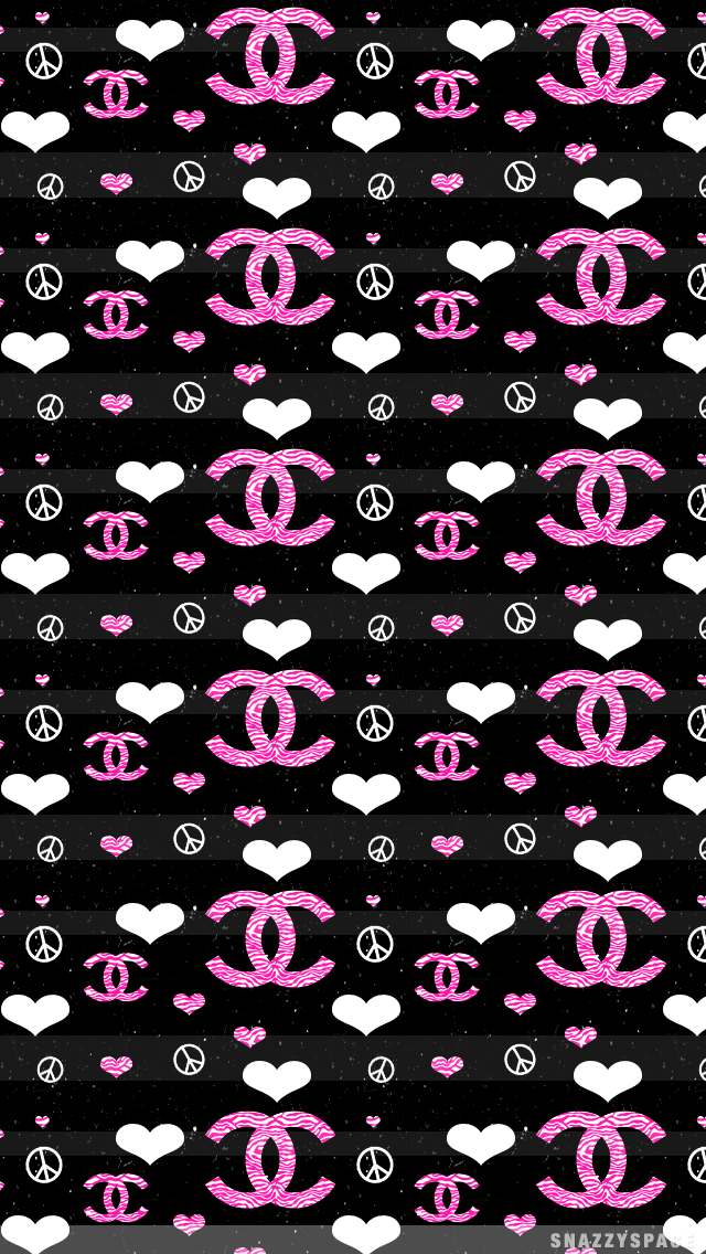 Chanel Iphone Wallpaper Chanel and peace iphone 640x1136