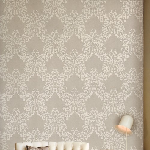 Discount light gray floral wallpaper home decoration European style 500x500