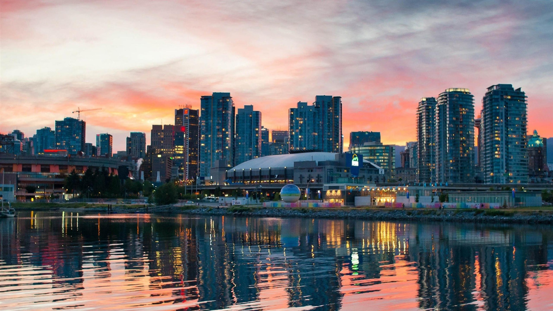 Vancouver Canada City photography wallpaper HD 1080p Wallpaper 1920x1080