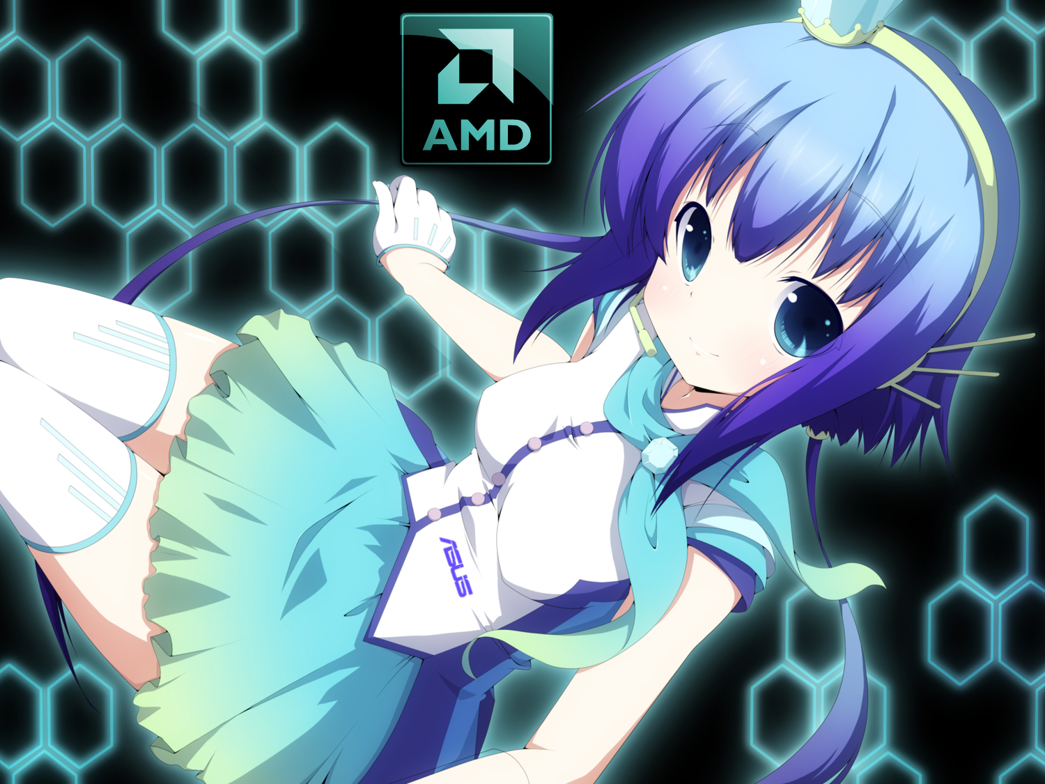 Amd asus gamer anime Wallpaper by ipodpunker 1500x1125