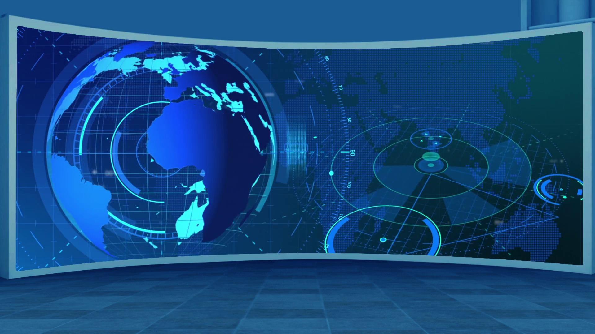 News 15 Broadcast TV Studio Green Screen Background Loopable 1920x1080