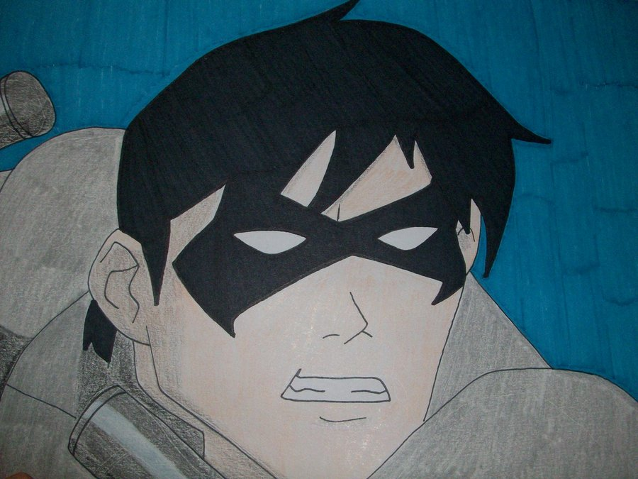 Young Justice Nightwing by TheDarkKnightress 900x675