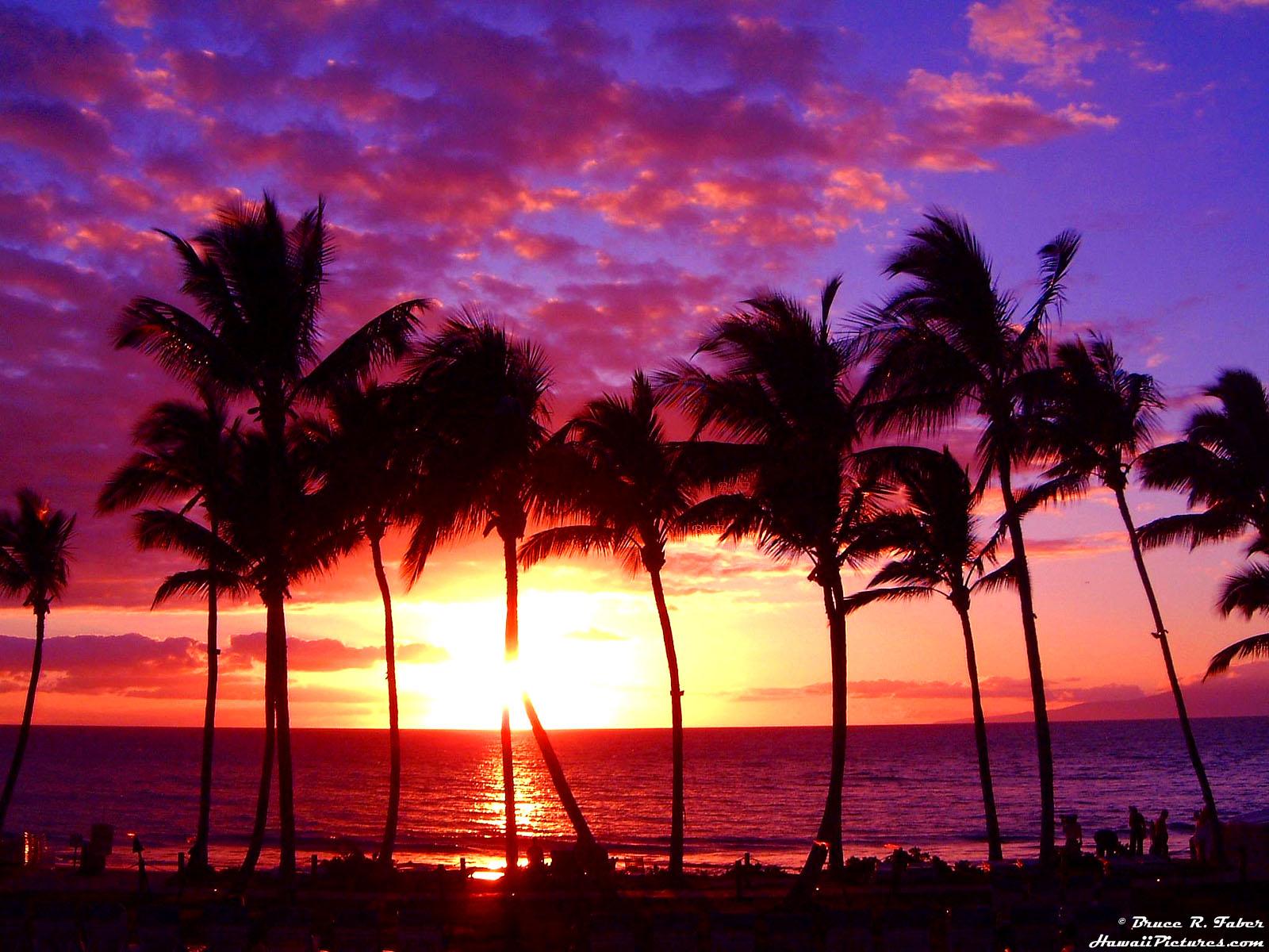 Sunset at Maui Hawaii Wallpaper | Wallpup.com