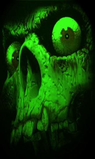 View bigger   Green Skull Live Wallpaper for Android screenshot 307x512