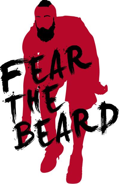 James Harden Fear The Beard Wallpaper Fear the beard t shirt art 400x618
