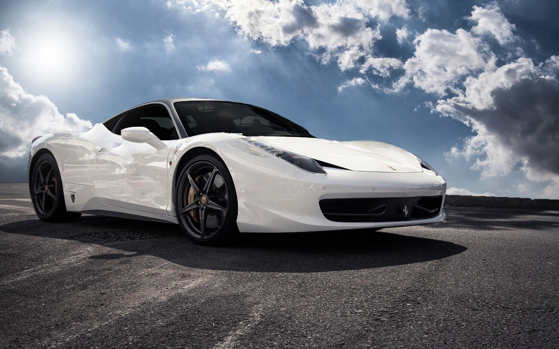 white ferrari 458 italia wallpaper hd Vehicle Pictures 1920x1200